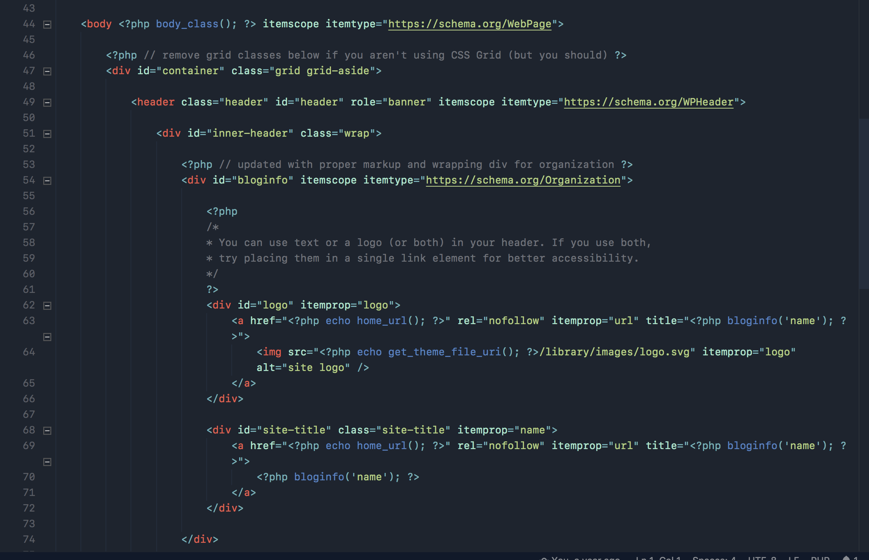 Bio Dark Theme: HTML/PHP
