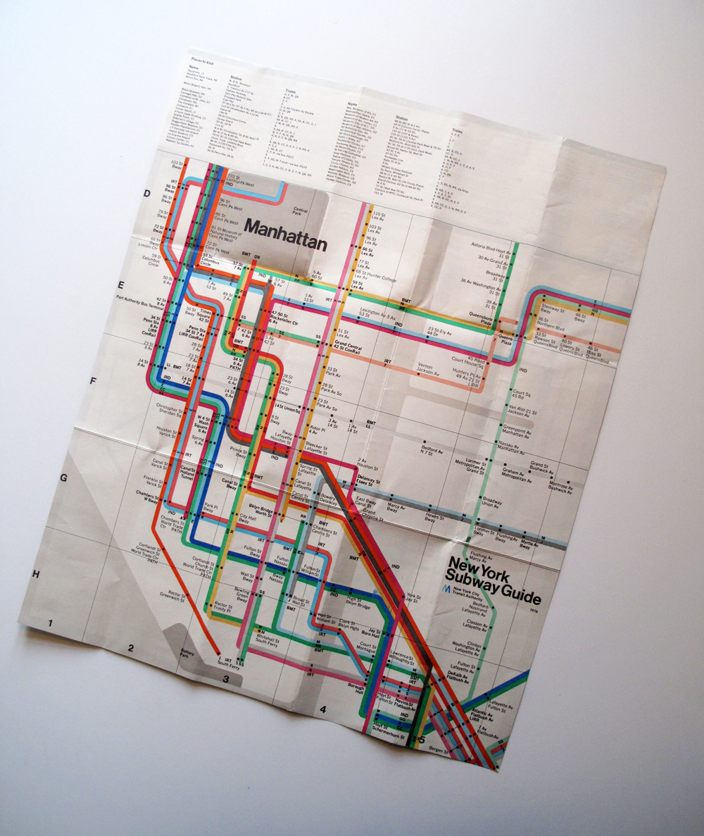 NYC Subway map by Massimo Vignelli
