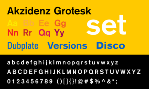 Akzidenz Grotesk typeface specimen sheet